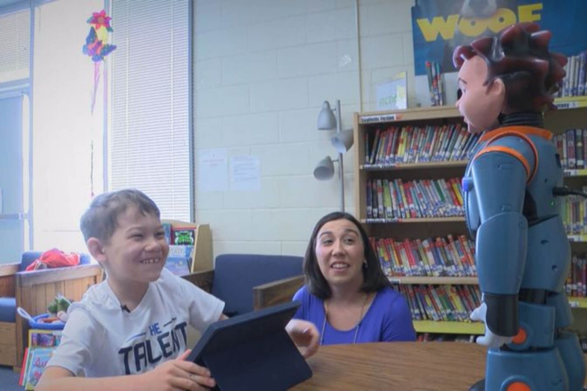Student with autism interacts with RoboKind